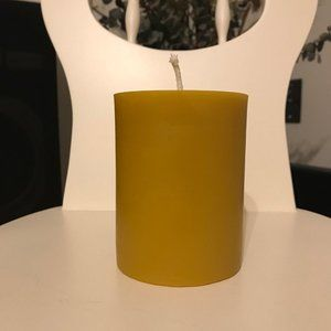 3x4 inch Cylinder BeesWax Candle HANDEMADE FREE SHIP
